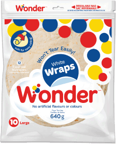 "Wonder® White 10"" Wraps 10pk"