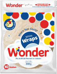 "Wonder® White 7"" Wraps 10pk"