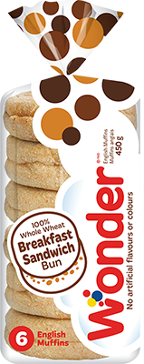 Wonder® 100% Whole Wheat English Muffins 6k