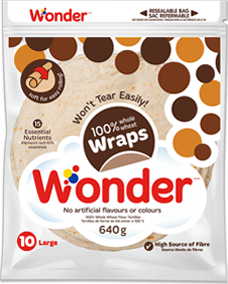"Wonder® 100% Whole Wheat 10"" Wraps 10pk"