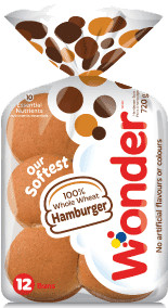 Wonder® 100% Whole Wheat Hamburger Buns 12pk