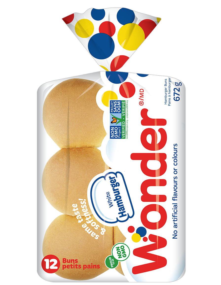 Wonder® NonGMO White Hamburger Buns 12pk