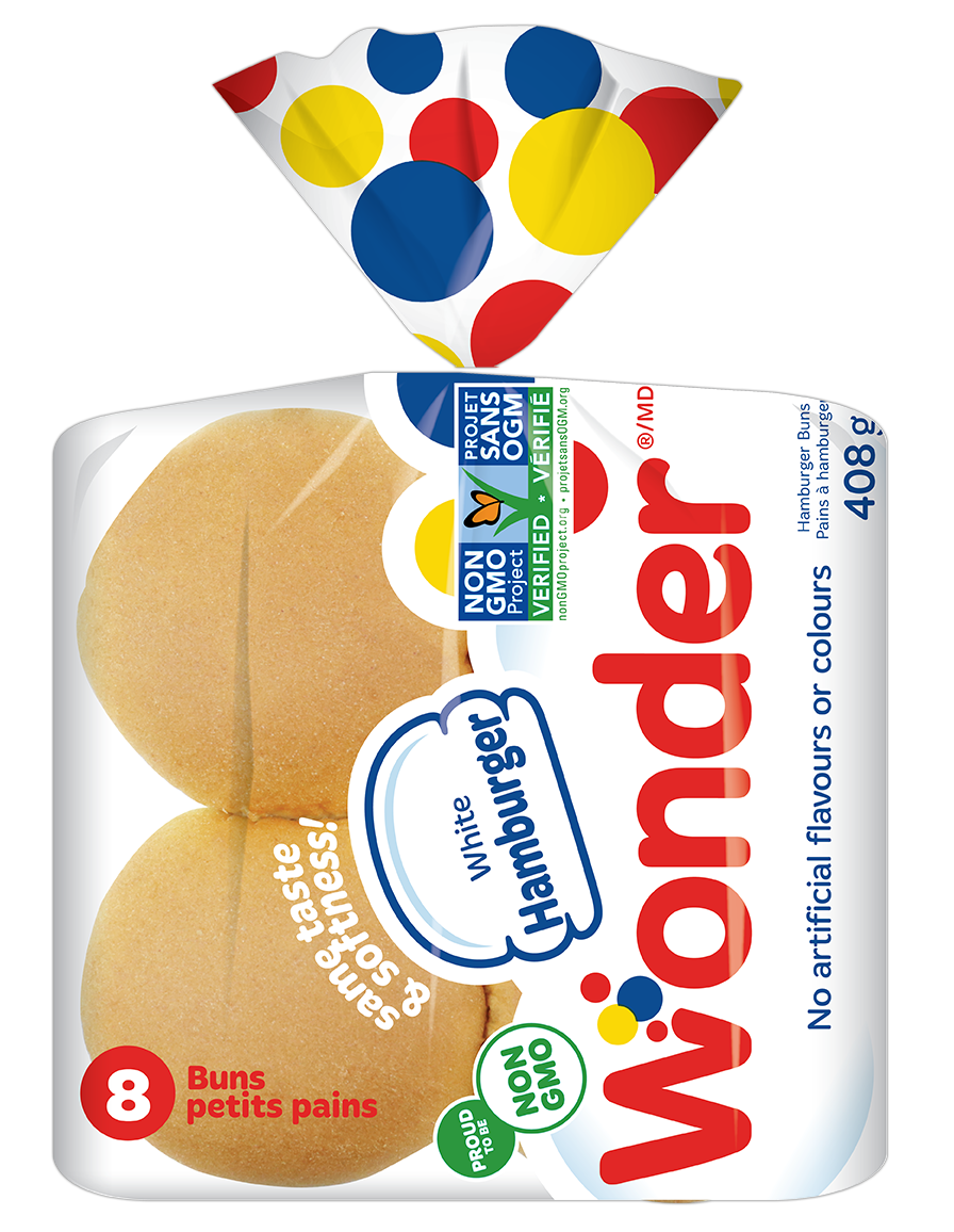Wonder® NonGMO White Hamburger Buns 8pk