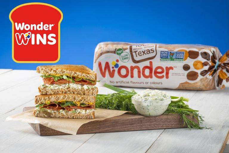 Wonder Wins Salami Sandwich With Cream Cheese